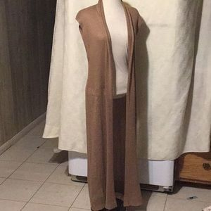 FOREVER 21  Long Beige Sweater Cover Up Size M